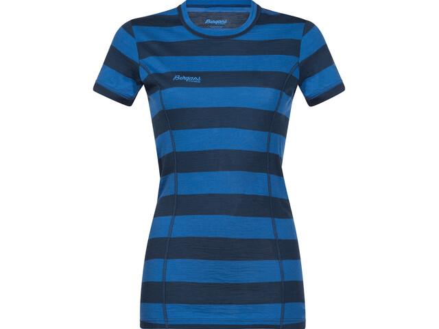 Bergans Soleie Tee Women blue/fjord striped